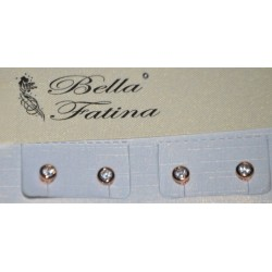 STUD EARRING WITH ZIRCON IN PINK GOLD COLOR