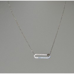 STEEL NECKLACES IN SILVER WITH ZIRCONS