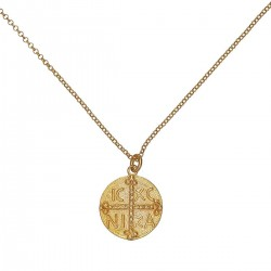 Gold plated Silver Necklace Constantinato Φ20,6 mm