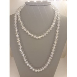 EXTRA LONG NECKLACE WITH WHITE CRYSTALS