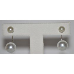 STUDS EARRING WITH PERLA