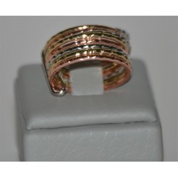 CARTIER type RINGS IN COLORS GOLD, PINK GOLD AND SILVER IN NINE PIECES