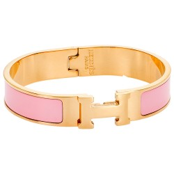 SENZA STAINLESS STEEL BRACELET ROSE GOLD PLATED TYPE HERMES