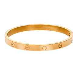 SENZA STAINLESS STEEL MEN'S BRACELET GOLD PLATED TYPE CARTIER
