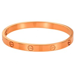 SENZA STAINLESS STEEL BRACELET ROSE GOLD PLATED TYPE CARTIER