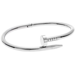 SENZA STAINLESS STEEL BRACELET RHODIUM PLATED TYPE CARTIER