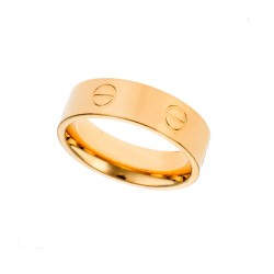 SENZA STAINLESS STEEL RING GOLD PLATED TYPE CARTIER