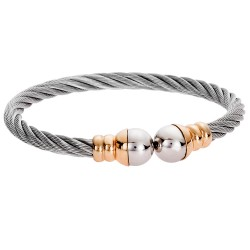 SENZA STAINLESS STEEL BRACELET GOLD PLATED WITH PEARLS