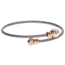 SENZA STAINLESS STEEL BRACELET GOLD PLATED WITH PEARL AND ZIRCON