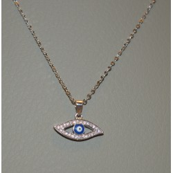 EYE NECKLACE SENZA SILVER 925 RHODIUM PLATED