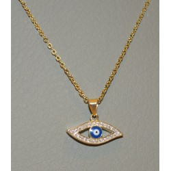 NECKLACE EYE SENZA SILVER 925 GOLD PLATED NECKLACE
