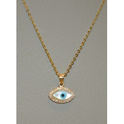 NECKLACE EYE SENZA SILVER 925 RHODIUM PLATED