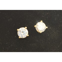 EARRING SENZA SILVER 925 ROSE GOLD PLATED WITH ZIRCON 4,8 mm