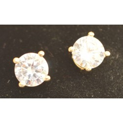 EARRING SENZA SILVER 925 ROSE GOLD PLATED WITH ZIRCON 6,8 mm
