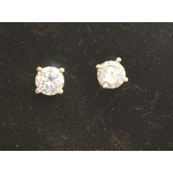 EARRING SENZA SILVER 925 RHODIUM PLATED WITH ZIRCON 4,8 mm